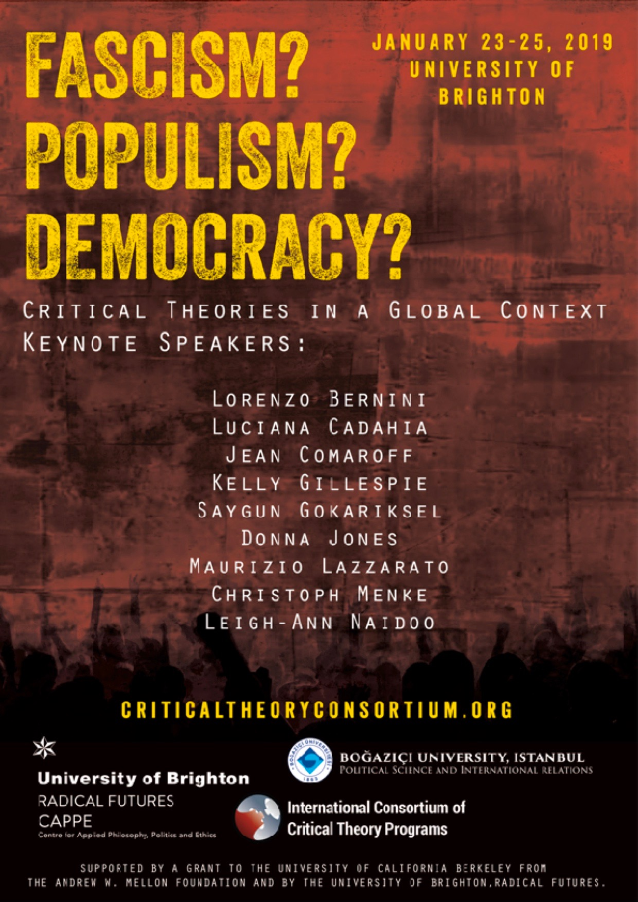 Fascism? Populism? Democracy? Critical Theory in a Global